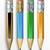 cartoon · potloden · vector · ingesteld · kleur · school - stockfoto © lindwa