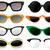 óculos · de · sol · vintage · conjunto · olho · sol · verão - foto stock © lindwa