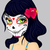cartoon girl in dead mask makeup stock photo © lindwa