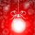 stock · vektor · gyönyörű · karácsony · piros · labda - stock fotó © lindwa