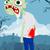 漫画 · ゾンビ · 男 · レトロな · バルーン · 図面 - ストックフォト © lindwa