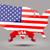 bandeira · americana · estrelas · dia · isolado · branco · negócio - foto stock © lindwa