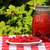 rijp · frambozen · glas · jar · gekleurd · houten - stockfoto © lio22