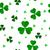 verde · sem · costura · trevo · folhas · ilustração · vetor - foto stock © liolle