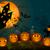 halloween pumpkins at night stock photo © liolle