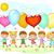 детей · шаров · группа · Cartoon · дети · природы - Сток-фото © liolle