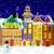 зима · ночь · старый · город · город · украшенный · Рождества - Сток-фото © liolle