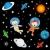 fiú · színes · galaxis · égbolt · hegy · kék - stock fotó © lirch