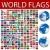 dünya · bayraklar · ayarlamak · bayrak · kendi - stok fotoğraf © lirch