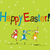 mutlu · çocuklar · easter · bunny · renkli · yumurta - stok fotoğraf © lirch