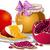 mel · maçã · romã · prato · ano · novo · comida - foto stock © LironPeer
