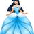 asiático · princesa · azul · vestir · belo · mulher - foto stock © LironPeer