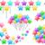 colorido · estrelas · conjunto · vara · festa - foto stock © LironPeer