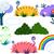 árvore · flor · plantas · arco-íris · nuvem · empacotar - foto stock © LironPeer