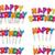 красочный · С · Днем · Рождения · текста · свечей · набор · Stick - Сток-фото © lironpeer