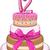 rosa · bat · bolo · aniversário · pisos · número - foto stock © LironPeer