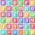 alphabet numbers symbols flat square icons arcade stock photo © lironpeer