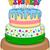 три · С · Днем · Рождения · торт · свечей · именинный · торт - Сток-фото © LironPeer