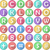 alphabet numbers symbols flat round icons stock photo © lironpeer