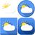 Weather Sun Behind Cloud Icon Pack stock photo © LironPeer