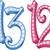 ピンク · 青 · 番号 · 12 · 13 - ストックフォト © LironPeer