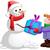 Рождества · снеговик · настоящее · мальчика · ребенка · стороны - Сток-фото © LironPeer