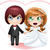 bride and groom getting married 2 stock photo © lironpeer