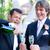 homohuwelijk · twee · knap · champagne - stockfoto © lisafx