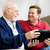 father and son enjoying tablet pc stock photo © lisafx