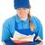 tienermeisje · fast · food · ernstig · tienermeisje · maaltijd - stockfoto © lisafx