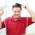 mature man drying his hair stock photo © lisafx