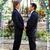 homossexual · casal · casamento · retrato · bonito · sorrir - foto stock © lisafx