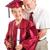 idős · diplomás · büszke · férj · idős · nő - stock fotó © lisafx