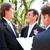 bella · esterna · cerimonia · di · nozze · attesa · sposa · lo · sposo - foto d'archivio © lisafx