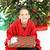 pequeño · nino · Navidad · pie · juguete · árbol · de · navidad - foto stock © lisafx