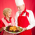 chef and homemaker with holiday dinner stock photo © lisafx
