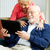 senior couple with tablet pc stock photo © lisafx