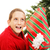 nino · apertura · Navidad · presente · rojo · dentro - foto stock © lisafx