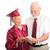 büszke · idős · diplomás · támogató · házastárs · nő - stock fotó © lisafx
