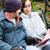 молодые · семьи · чтение · Библии · природы · детей - Сток-фото © lisafx