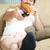 paresseux · canapé · de · pomme · de · terre · embonpoint · Homme · séance - photo stock © lisafx