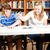 gehandicapten · student · studeren · bibliotheek · computer · man - stockfoto © lisafx