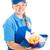 fast · food · werknemer · maaltijd · geïsoleerd - stockfoto © lisafx