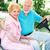 actieve · senioren · golf · winkelwagen · paardrijden · rond - stockfoto © lisafx