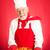 baker holding cherry pie stock photo © lisafx