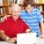 biblioteca · fastidioso · papà · padre · figlio · studiare - foto d'archivio © lisafx