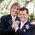 bruiloft · dag · paar · holding · handen · vrouw - stockfoto © lisafx
