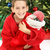 izgatott · fiatal · srác · karácsonyfa · fa · portré · fiú - stock fotó © lisafx