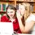 улыбаясь · женщины · студент · используя · ноутбук · библиотека · портрет - Сток-фото © lisafx