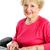 senior · dame · computer · gelukkig · glimlachend · vrouw - stockfoto © lisafx